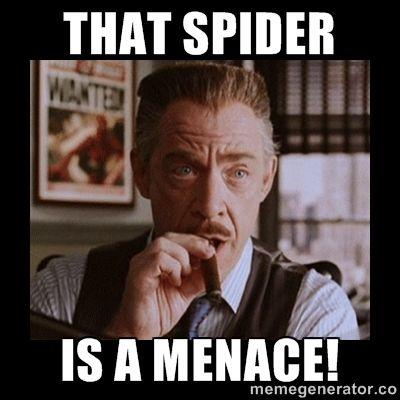 Image result for menace spider man meme