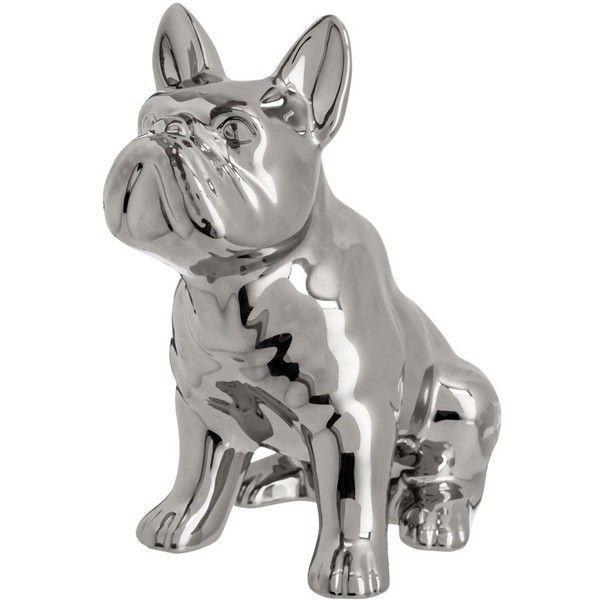 Ben de Lisi Home Designer silver sitting dog ornament ($27) ❤ liked ...