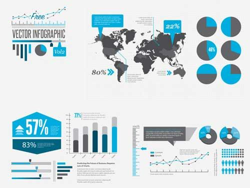 16 free infographic vector templates kits best design options