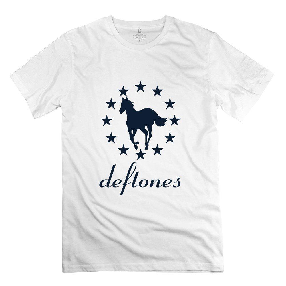 T shirt deftones white pony - Qdyjm Men S Deftones White Pony Star Logo T Shirt L White