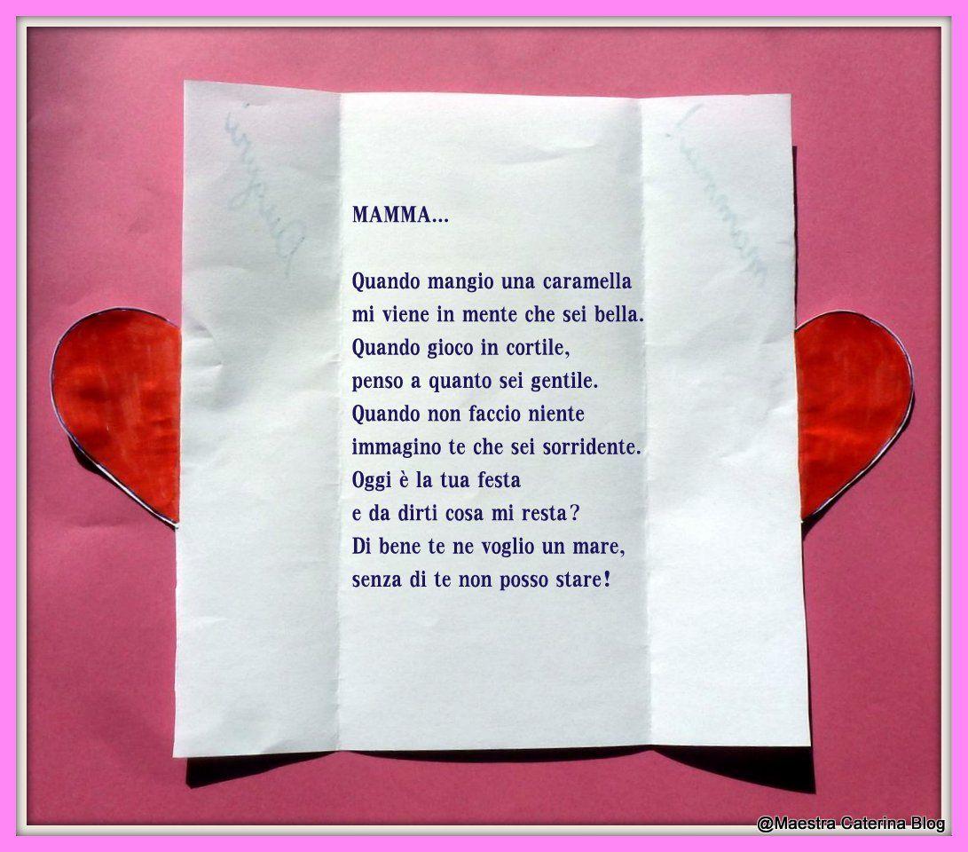 Maestra Caterina Poesia Per La Festa Della Mamma 1 Janeiro Diy