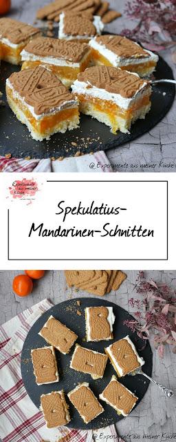 Spekulatius-Mandarinen-Schnitten - Experimente aus meiner Küche #sliceandbakecookieschristmas