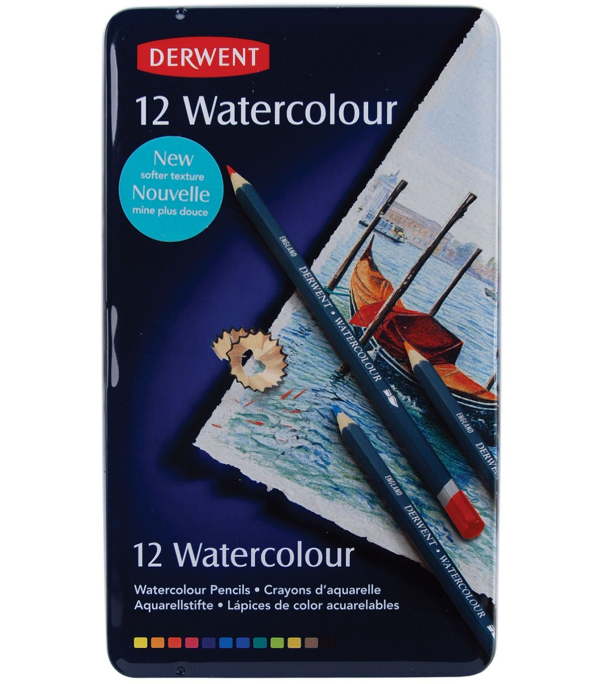Derwent Water Color Pencil Tin 12pk Watercolor Pencils Colored