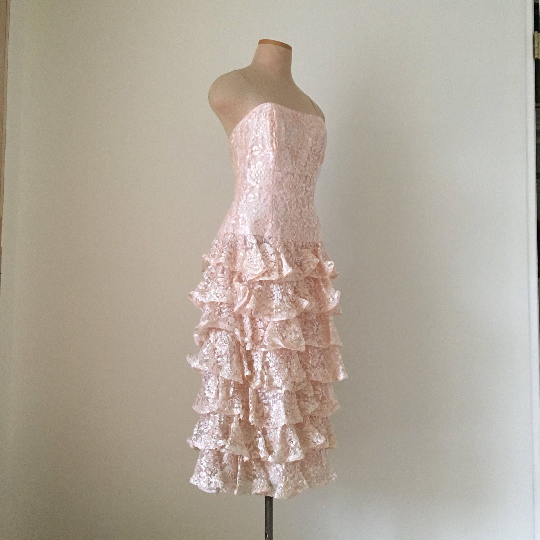 Sequin s prom dresspink s s party dressvintage women