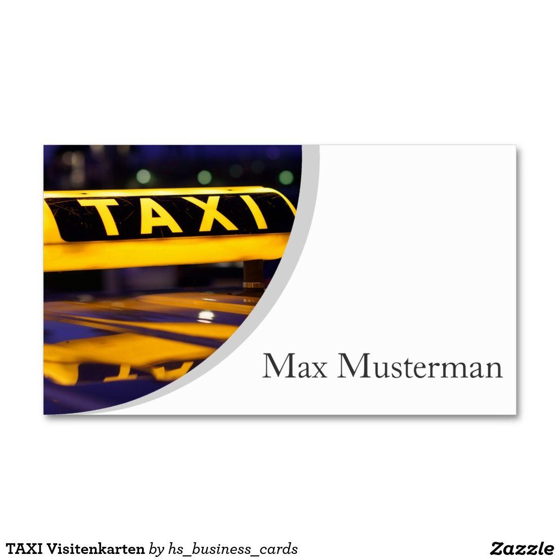 Taxi Visitenkarten Visitenkarte Zazzle De Visitenkarten