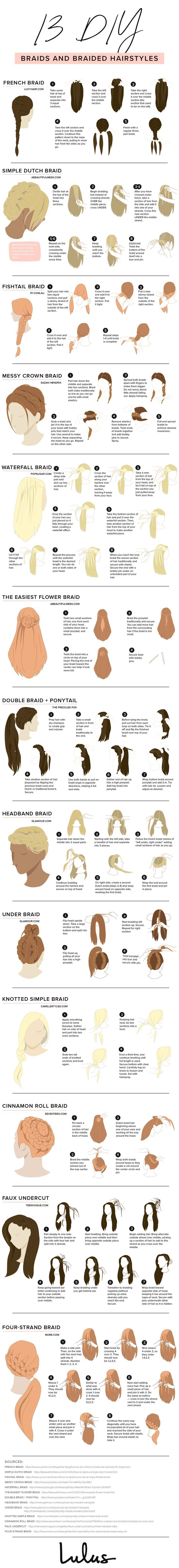 12 Different Types of Braids You Should Totally Try (Tutorials Included) #typesofhairstyles