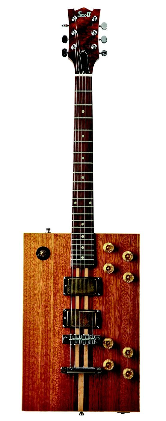 Bo Diddley's five speed box guitar. Hand made by Bo himself.   lessonator.com