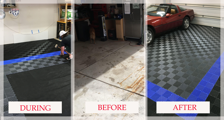 Garage Floor Tiles American Made Truelock Hd Racedeck Tile Garage Floor Tiles Tile Floor Cool Garages
