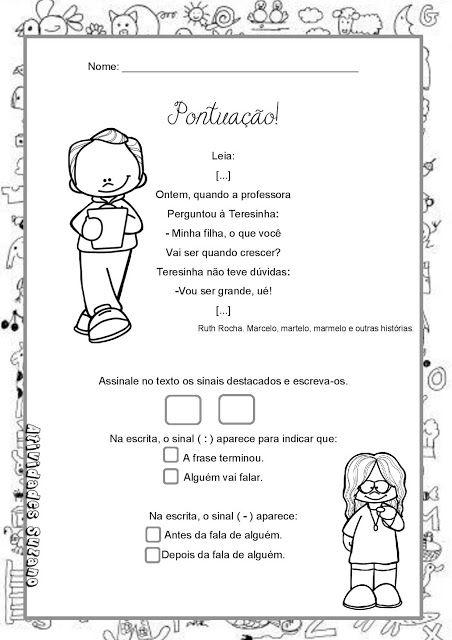 Pontuacao 2 Sinais De Pontuacao Atividades Atividades De Pontuacao
