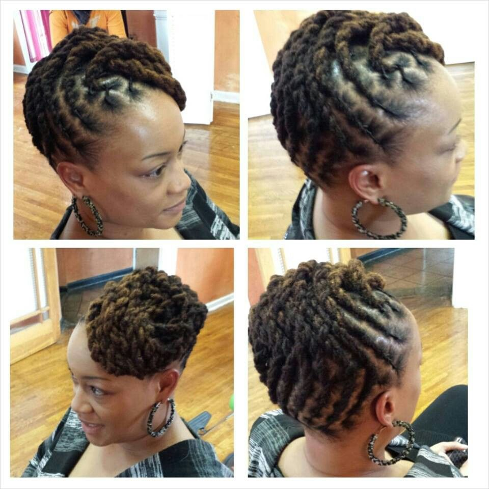 I Can See Myself Doing This Sometimes When I Get Some More Length Even Now If I M Creative Locs Hairstyles Natural Hair Styles Dread Hairstyles
