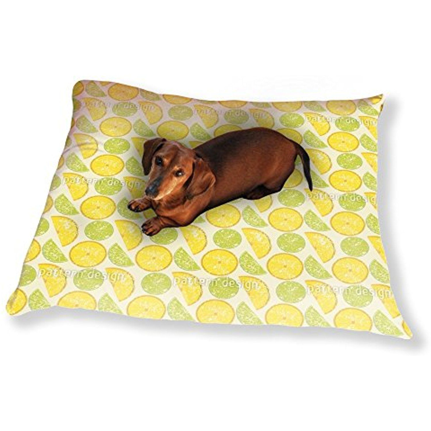 Lemon Or Lime Dog Pillow Luxury Dog / Cat Pet Bed You