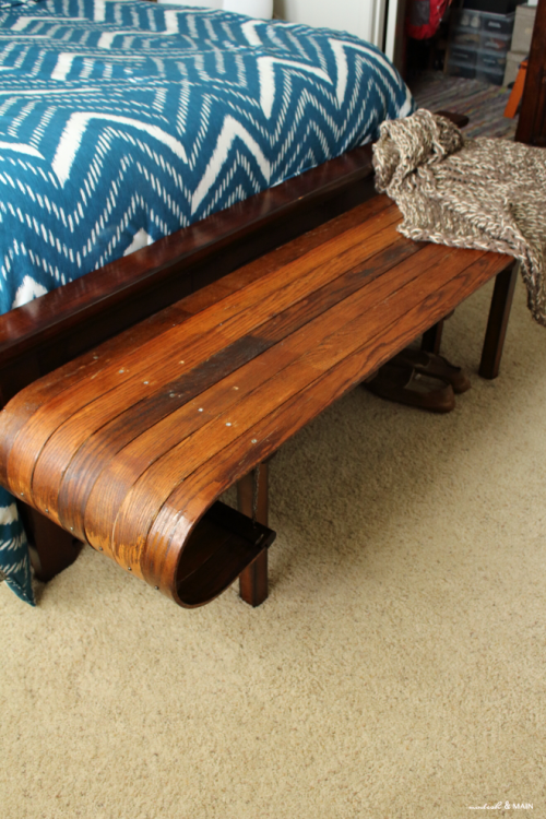 Vintage Toboggan Repurposed Into Furniture Bench. Sports EquipmentMagazine  AdsMagnoliaWooden ...