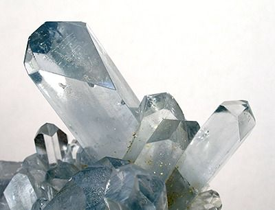 """❤ Celestite, also known as Celestine is a clear, or sometimes pale bluish white crystal; """"sky blue"""", hence the name - which derives from the word """"celestial"""". ❤"""