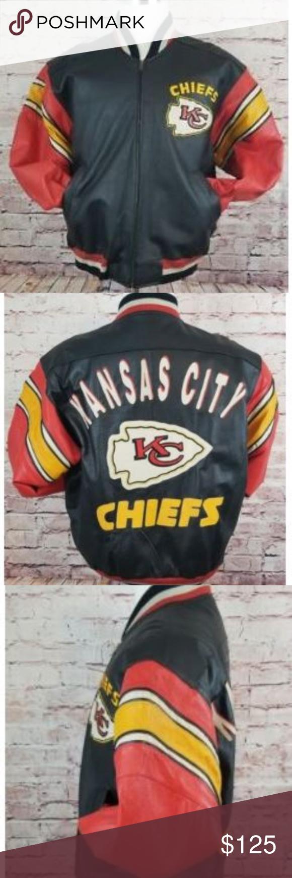 Kansas City Chiefs Men S Leather Jacket Medium Nfl Men S Leather Jacket Leather Jacket Jackets [ 1740 x 580 Pixel ]