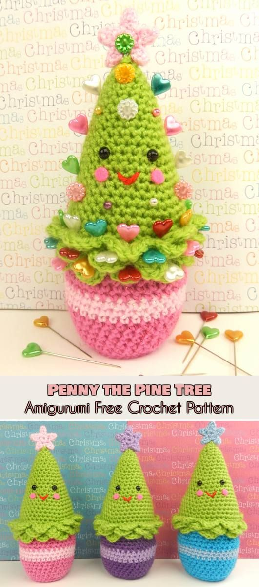 Penny The Pine Tree Amigurumi Christmas Tree Free Crochet Pattern