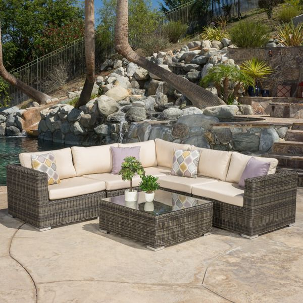 Santa Rosa Outdoor 6-piece Wicker Seating Sectional Set ...