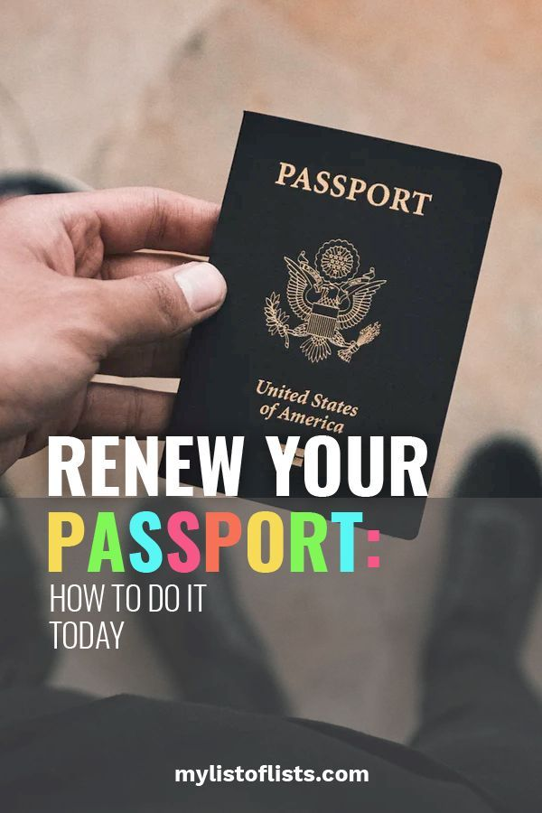 Renew Your Passport How to Do It Today  My List of Lists Stop procrastinating and renew your passport now Instructions for renewing your passport so you can get ready for...
