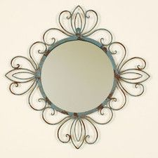 Fashionable Verdegris Wall Mirror
