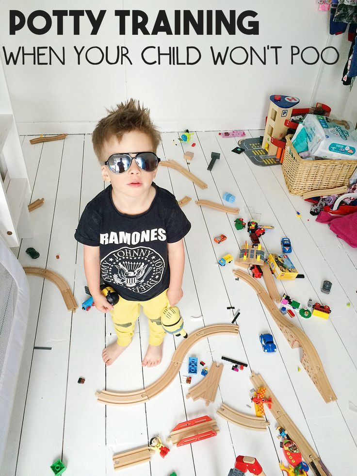 Potty Training: What To Do When Your Child Won't Poo