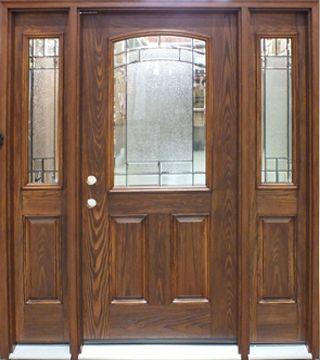 Fiberglass Door With Two Sidelights Prefinished Fiberglass Exterior Doors Door Design Front Entry Doors