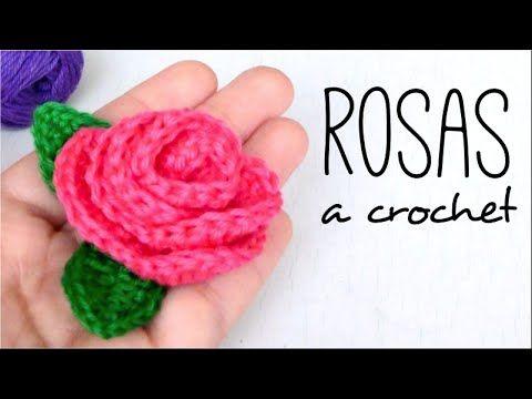 Cómo Tejer Rosas Con Hojas A Crochet Paso A Paso Hojas En Crochet Rosas De Ganchillo Croché