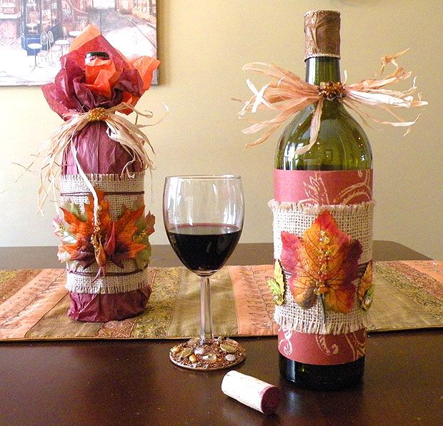 How To Decorate A Wine Bottle For A Gift Images Of Decorated Wine Bottles  How To Wrap A Wine Bottle For