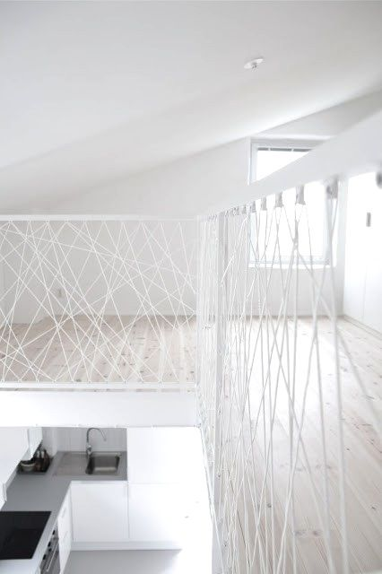 Tr s cuerda escalera y barandillas escaleras - Escaleras de cuerda ...