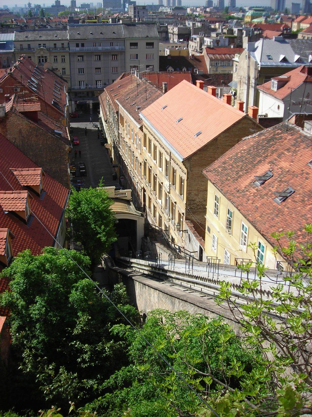 Funicular Railway Zagreb Croatia European Destination