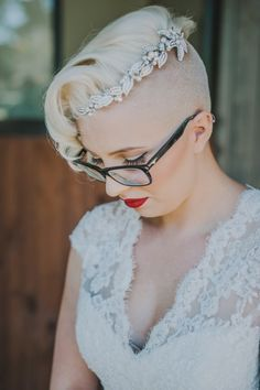 Undercut Hairstyle Women Short Hair Short Hair Bride Bridal Hair Wedding Hairstyles