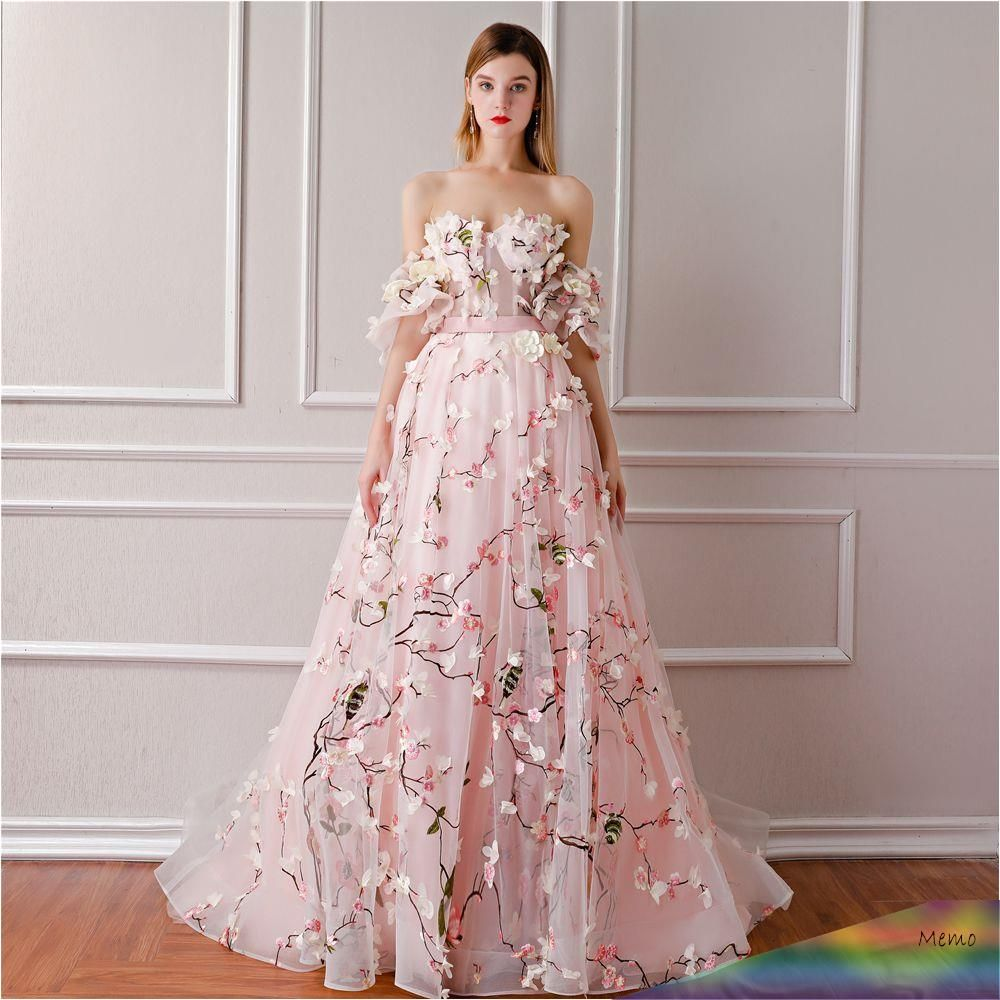 May 13, 13 - Flower Fairy Blushing Pink Prom Dresses 13 A-Line