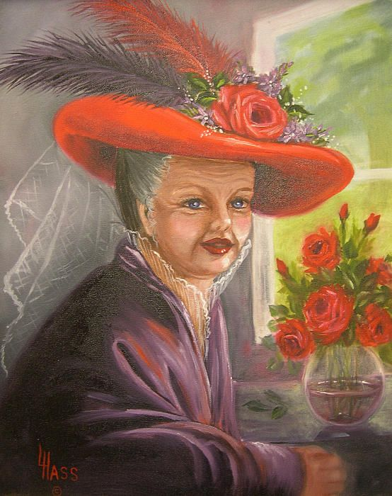 """""""Red Hat Pride"""" Oil Painting Print by Linda Hass"""