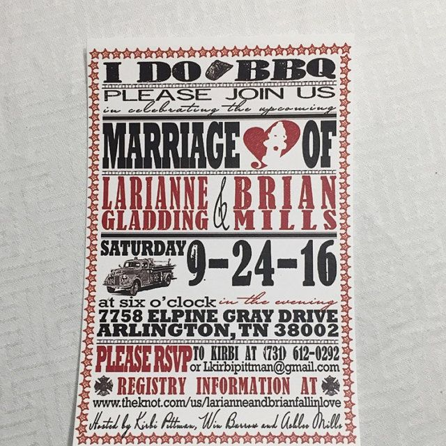 Fire Fighter Wedding Invitations, Vintage Fire Truck