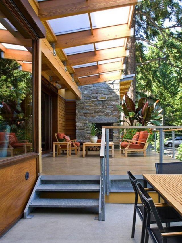 Terrassenüberdachung bauen - 28 Lösungen aus Holz, Alu, Stahl und ...