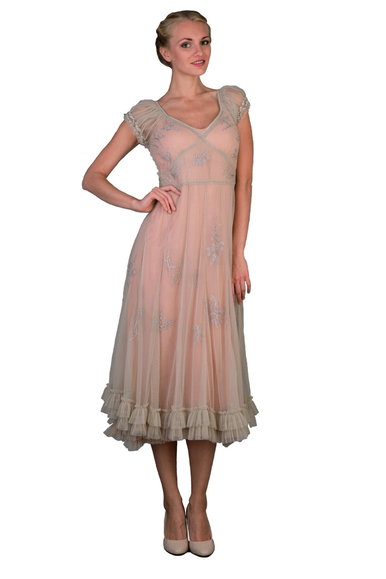 1920s Day Dresses, Tea Dresses, Mature Dresses with Sleeves