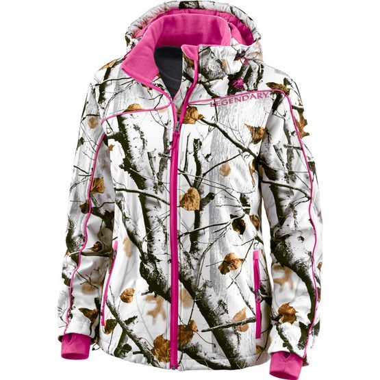 c6da057e02996 Women's Big Game Camo Snowdrift Softshell Jacket at Legendary Whitetails
