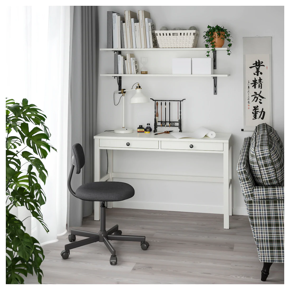 Hemnes Desk With 2 Drawers White Stain 47 1 4x18 1 2 Ikea In 2020 Ikea Hemnes Desk Home Office Design Ikea Hemnes