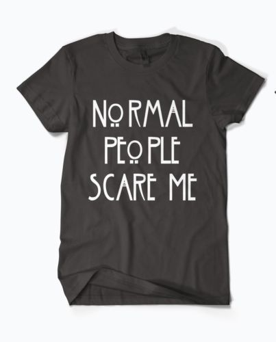 Hot American Horror Story Normal People Scare Me Black T Shirt Size S to XXL