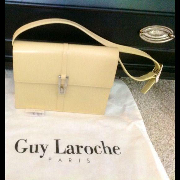 0523438c3a5b Guy Laroche flap style bag. Guy Laroche tan leather small bag. Bags ...