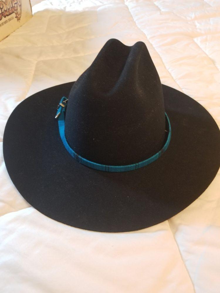 13c875a2f MHT Westerns Cowboy Hat Size 7 1/8 Black Felt 3X Beaver Blend NWT ...