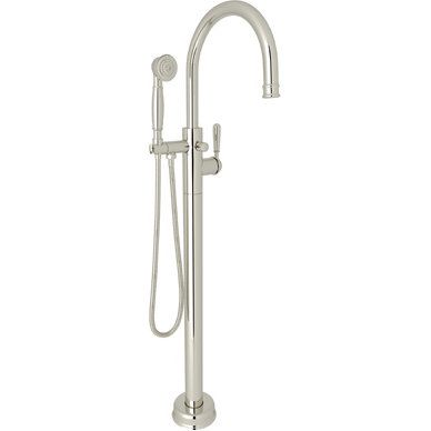 Rohl T1587lmpn Traditional Polished Nickel Freestanding Tub Only