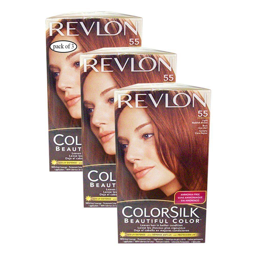 Revlon Hair Color Light Reddish Brown55 Pack Of 3 8695554