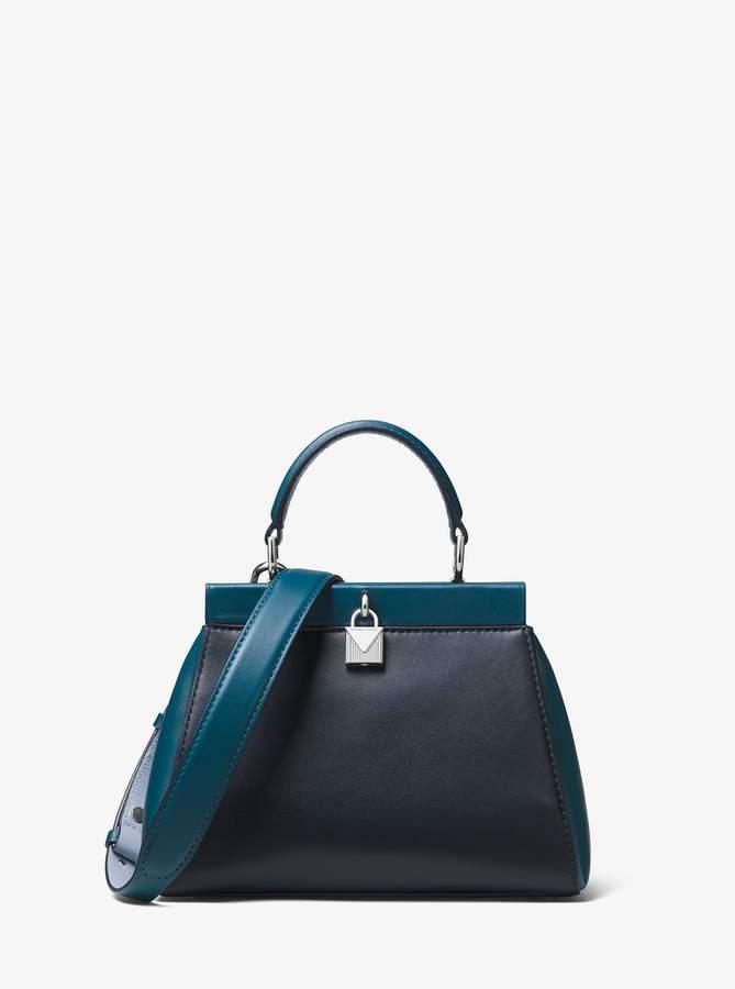 900d873ce6d305 MICHAEL Michael Kors Gramercy Small Color-Block Leather Frame Satchel