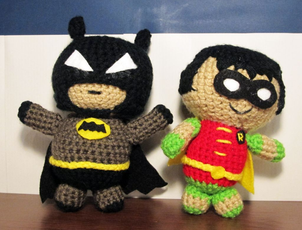 Batman and Robin: Free Crochet Pattern | Pinterest | Ganchillo