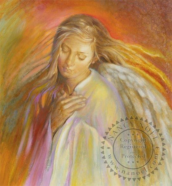 Painted Angel I by Nancy Noel