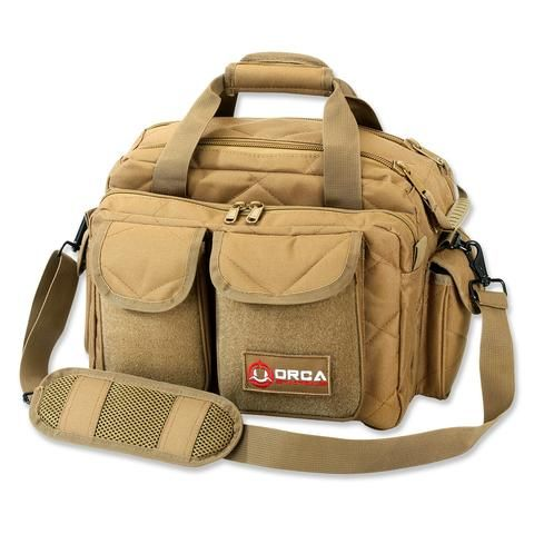 Orca Tactical Gun And Ammo Shooting Range Duffel Bag In Coyote Brown The Pistol Provides Plenty Of Adequate Compartment Pouch