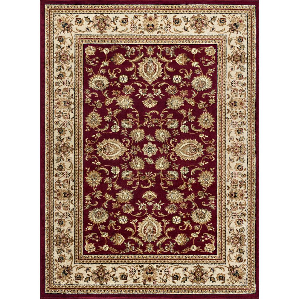 Tayse Rugs Sensation Red 8 Ft 9 In X 12 Ft 3 In Traditional Area Rug 4720 Red 9x12 The Home Depot Black Area Rugs Traditional Area Rugs Area Rugs