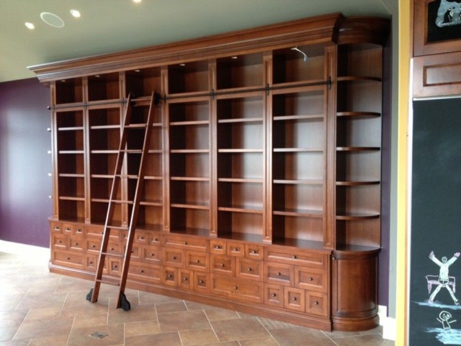 Bookcase With Ladder Bookcase Ladder Rolling Yydveea Large