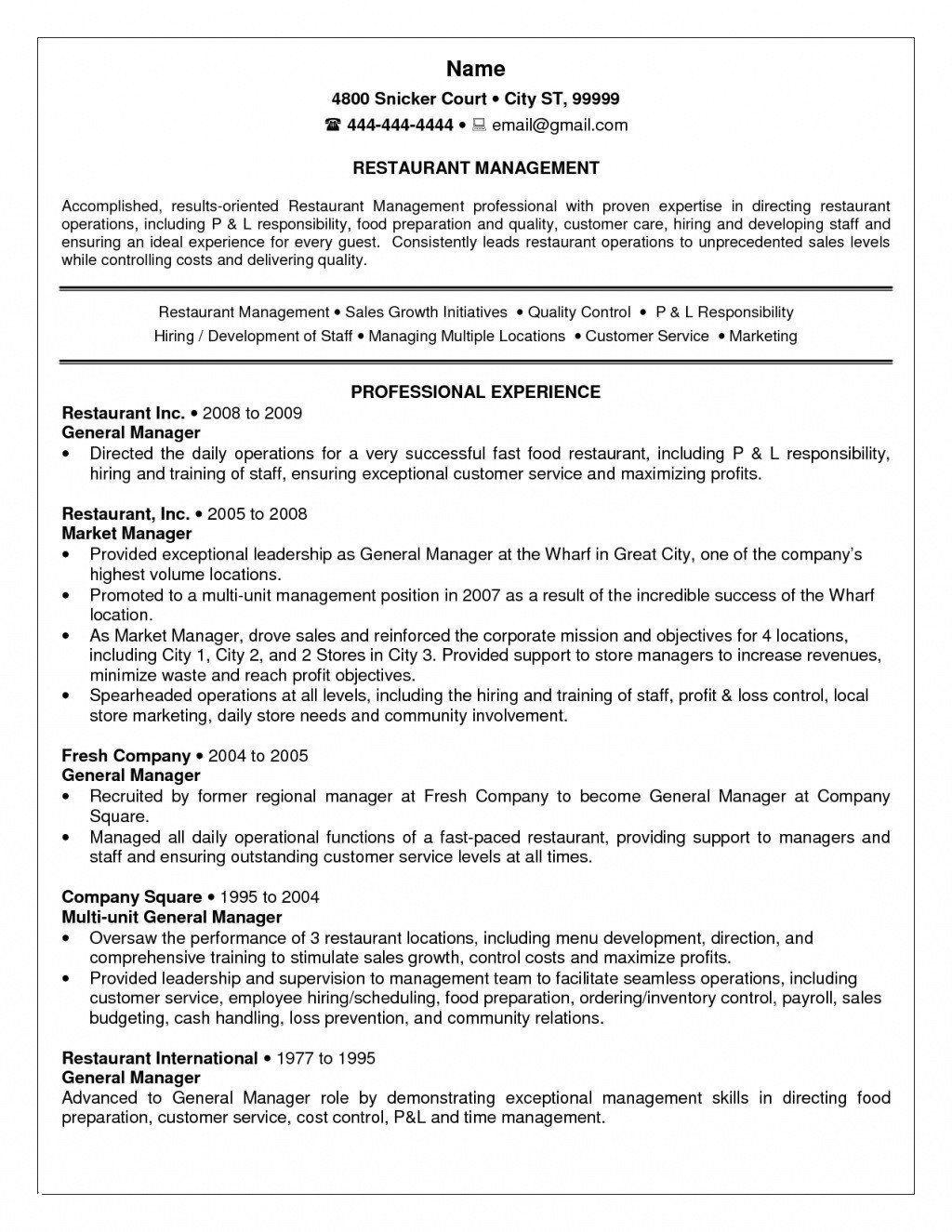 Resume Skills For Customer Service Manager