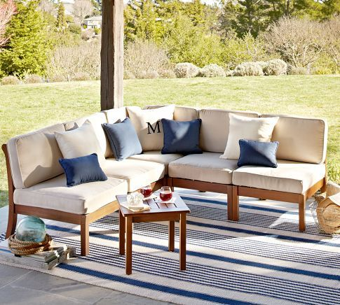 Build Your Own Chatham Sectional Components Honey Wood Patio