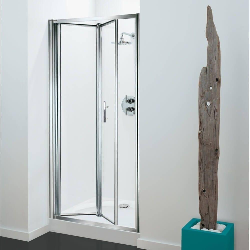 Coram Optima 900mm Bi Fold Shower Door 4mm Glass With 900 X